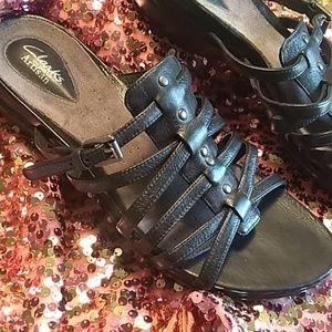 CLARK'S Artisan black leather sandal